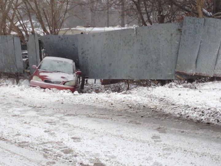 Elkton woman hurt after car slides off road