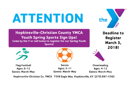 Spring Sports at the Hopkinsville YMCA