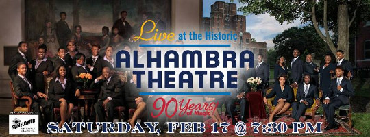 Fisk Jubilee Singers at the Alhambra Theatre