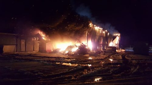 Fire destroys Marshall County Road Department building