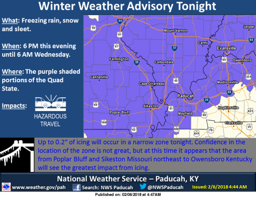 Winter Weather Advisory to our north, west