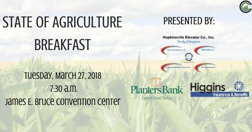 State of Agriculture Breakfast is Tuesday