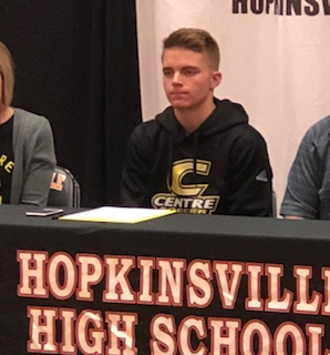 Hoptown High's Noel signs soccer letter with Centre College