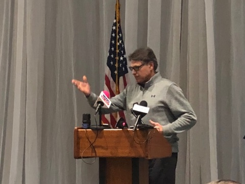 Energy Sec. Rick Perry, Sen. McConnell visit Hopkinsville