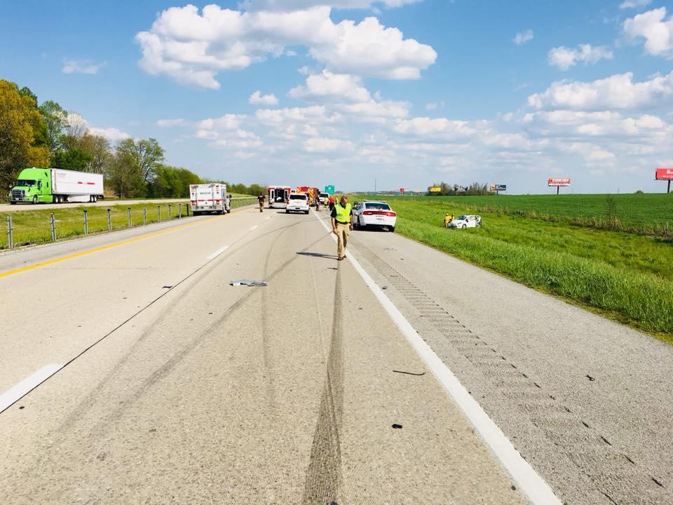 Three people hurt in I-24 collision