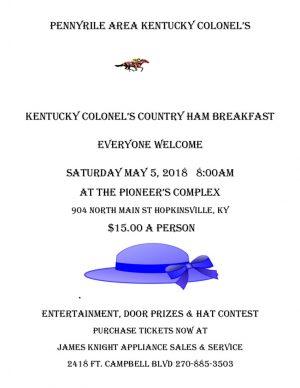 Kentucky Colonel's Country Ham Breakfast