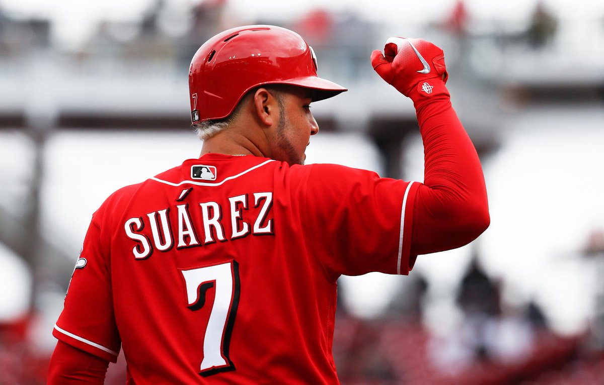 Suarez returns but Reds fall for second straight game to Braves