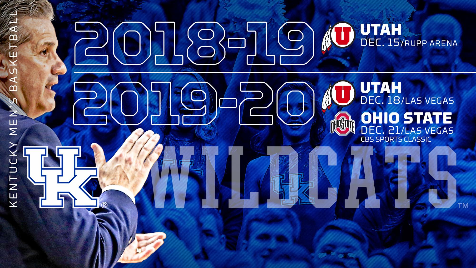Kentucky to face Utah at Rupp Arena this season