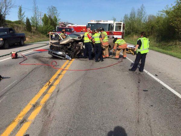 Man flown to Vanderbilt after two-vehicle crash