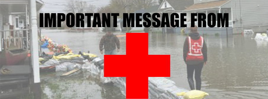 Important info from the Red Cross