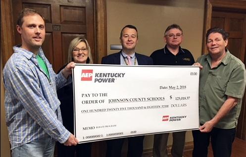 Johnson County Schools Earn $125,000 in Rebates from Kentucky Power