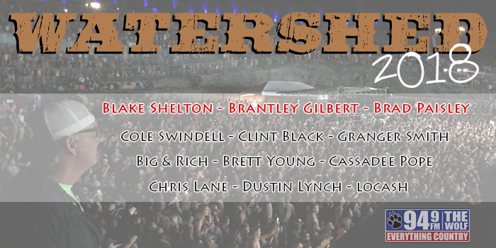 Feature: http://www.949thewolf.com/2018-watershed-country-music-festival-announced/