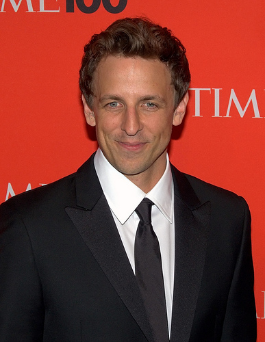 Seth Meyers and wife welcome baby in apartment lobby!