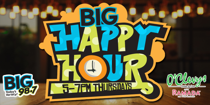 Feature: http://www.big987.com/big-happy-hour-at/