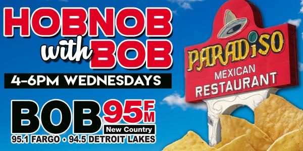 Feature: http://www.bob95fm.com/hob-nob-with-bob/