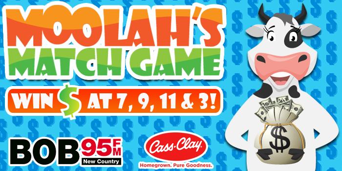 Feature: http://www.bob95fm.com/cash-cow-moolahs-match-game-is-back/