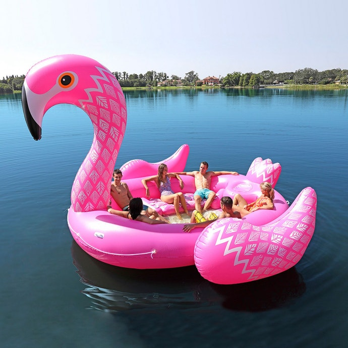 Need a New Floaty at the lake? This Might Work...The Party Bird ISLAND!