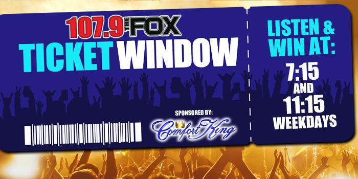 Feature: http://www.1079thefox.com/the-fox-ticket-window/