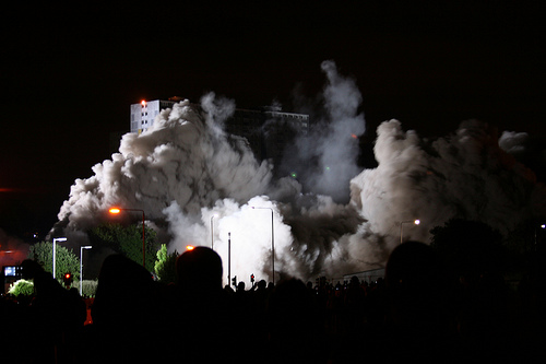 A Silo Demolition Goes Wrong and Crashes Into a Cultural Center
