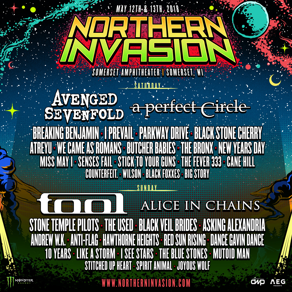 Northern Invasion Daily Lineups Announced