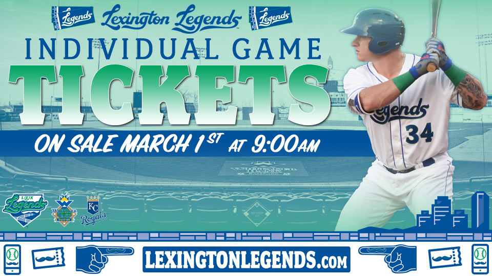 LEGENDS INDIVIDUAL TICKETS FOR 2018 SEASON ON MARCH 1