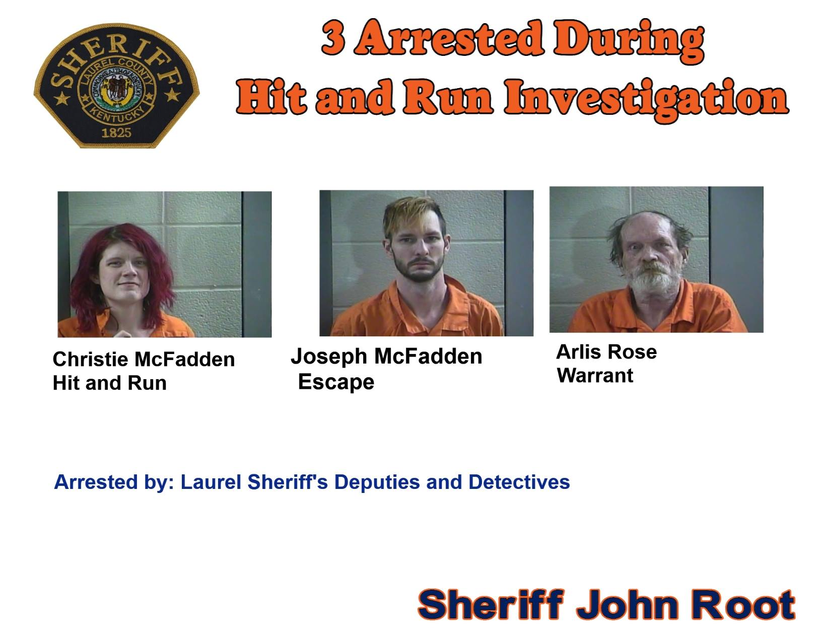 Laurel County Police Arrest 3 People After Hit And Run