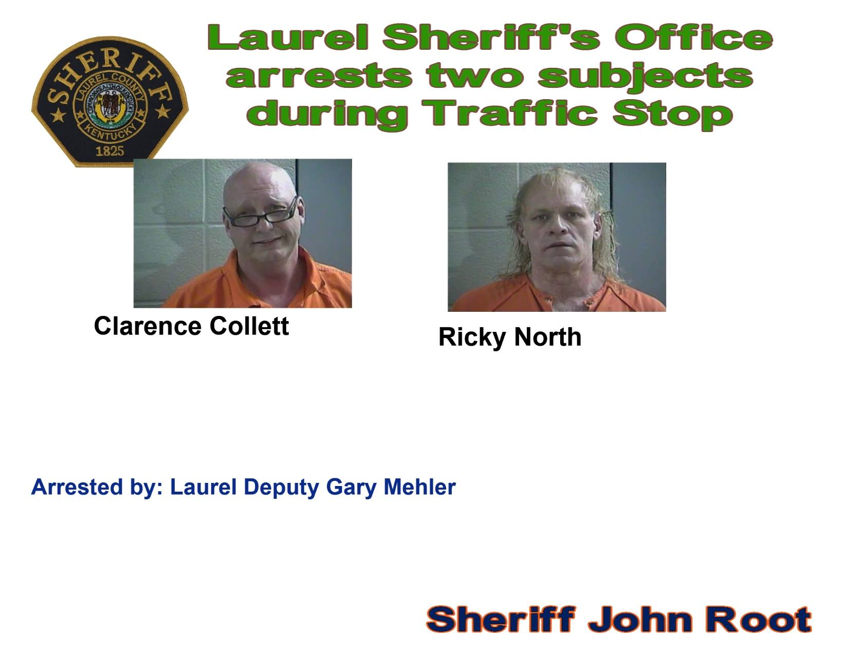 Traffic Stop Leads To The Arrest Of Two Laurel County Men