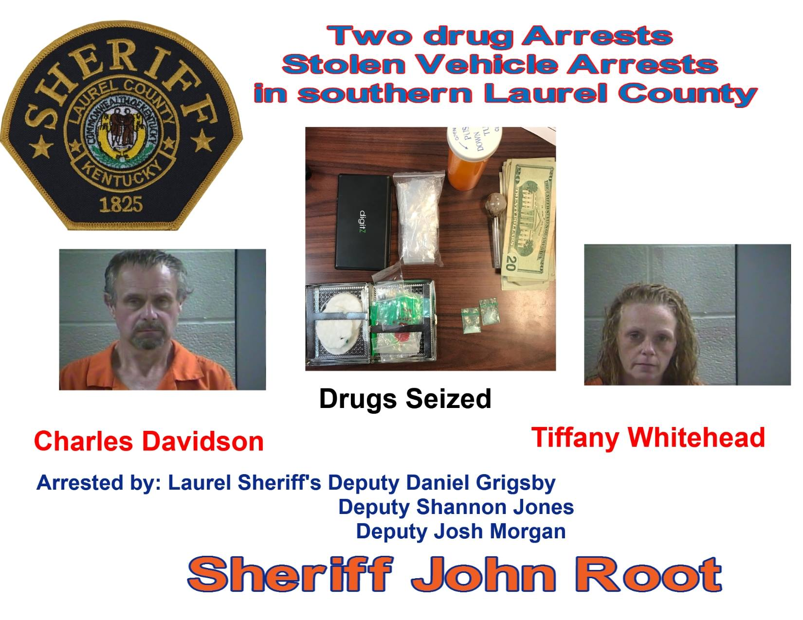 Laurel County Police Arrest Two And Recover Stolen Vehicle