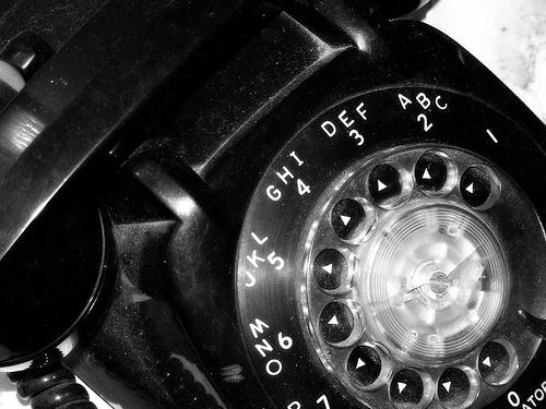 Grandma Tries to Explain a Rotary Phone to Granddaughter