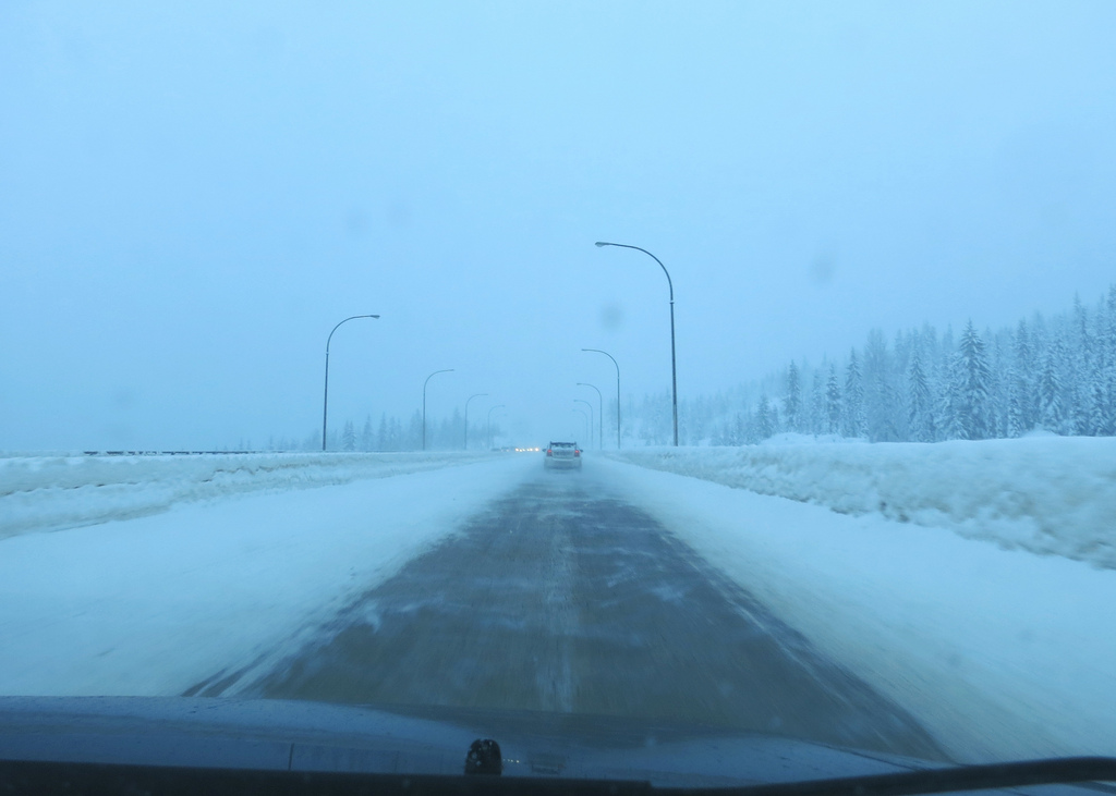 Huge increase in snow on the Coquihalla summit last month