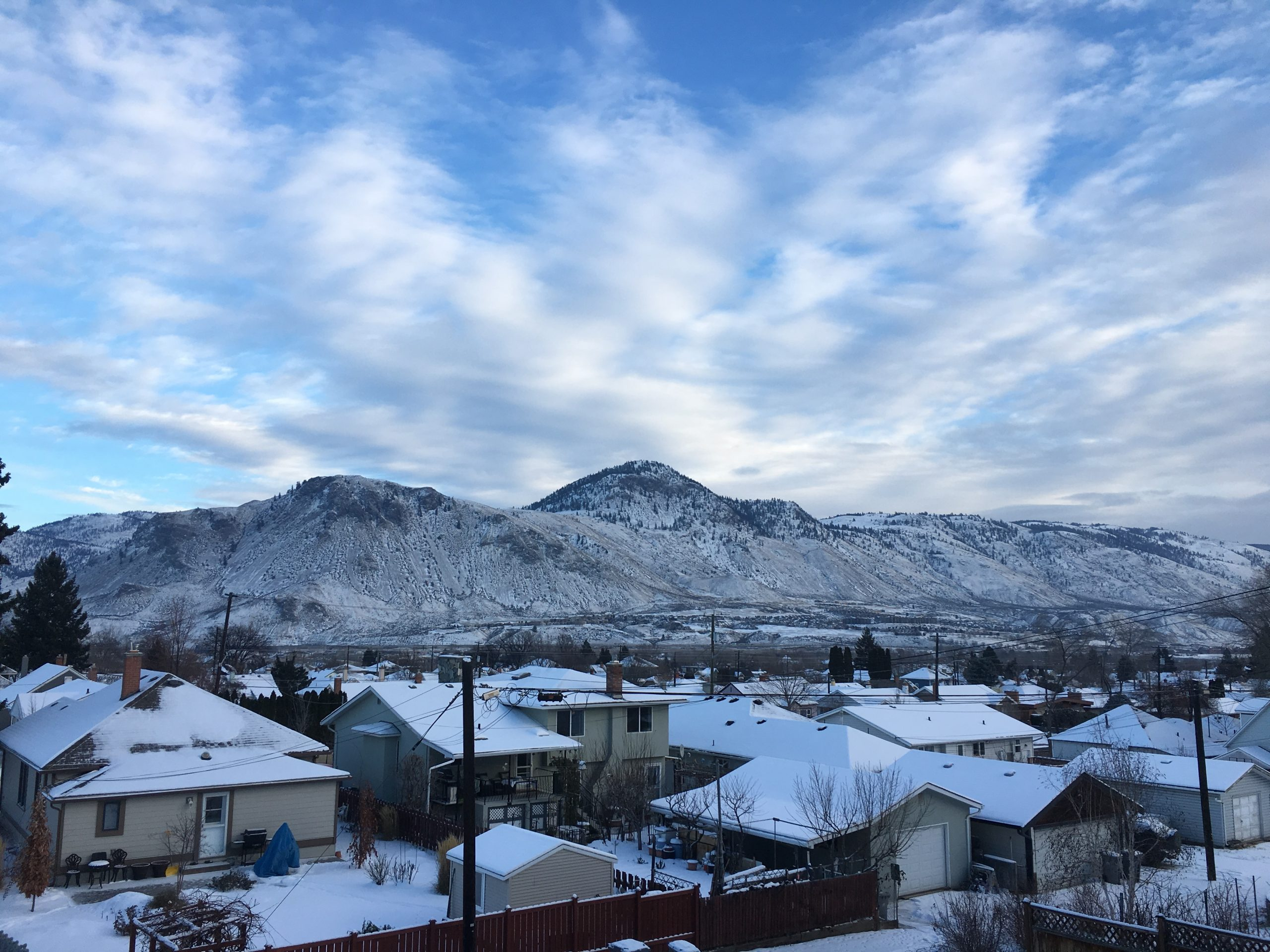 Kamloops expecting a bit more snow tomorrow