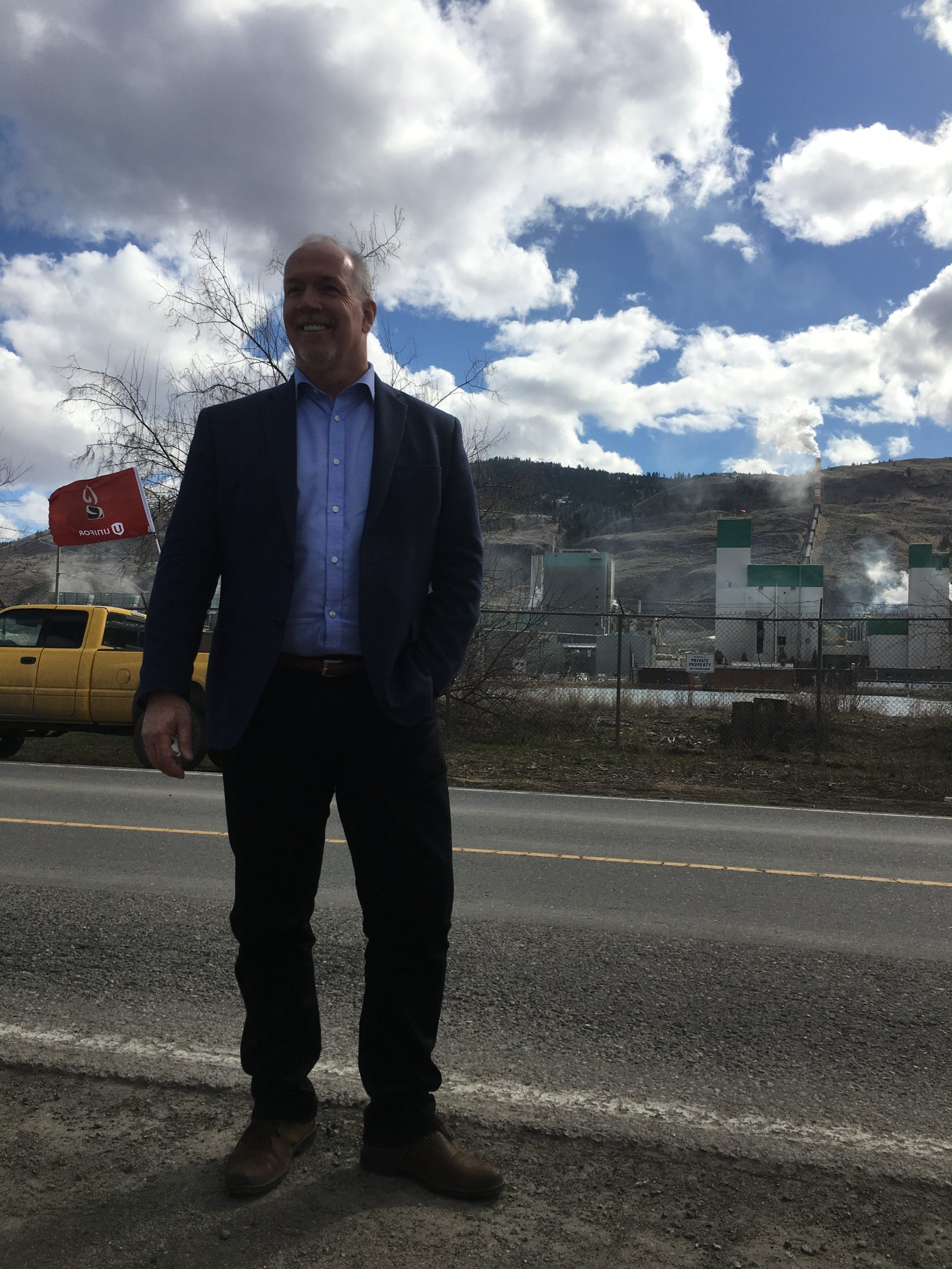 The Premier is spending some time in the Kamloops area