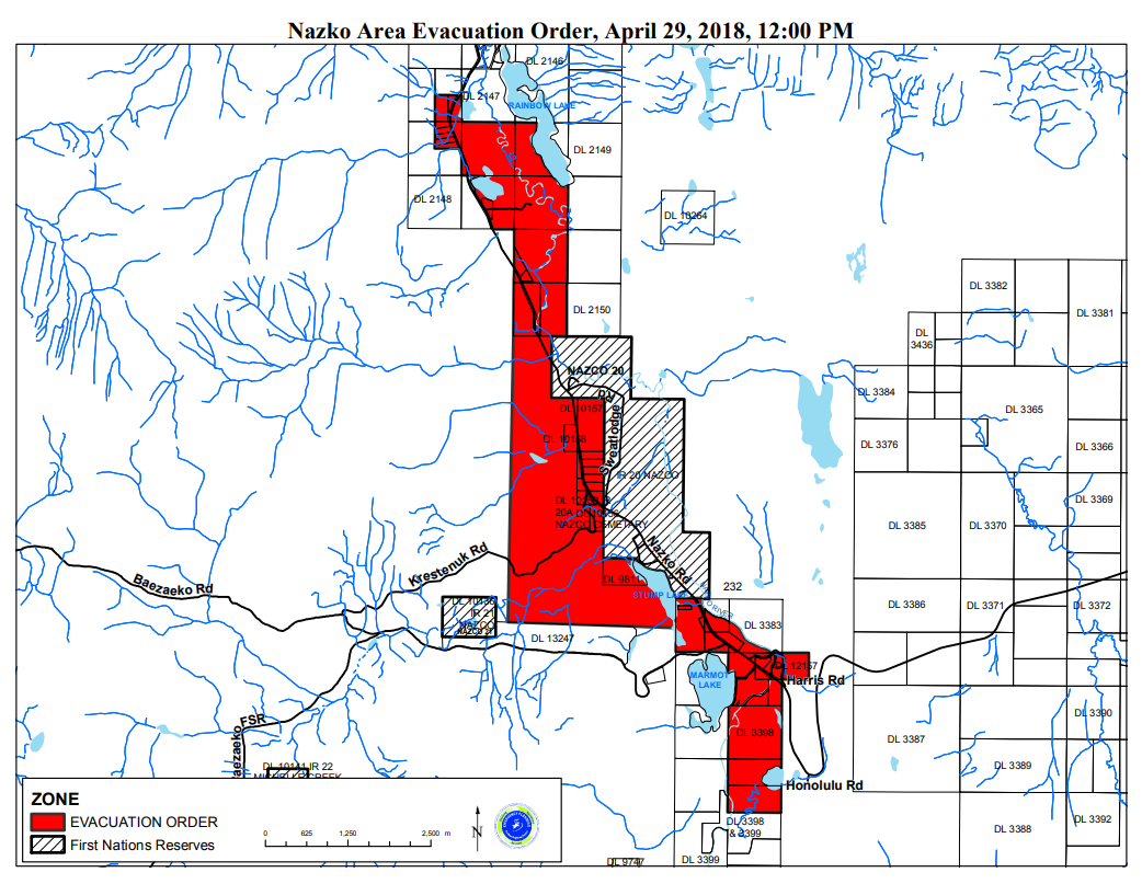Flood evacuations complete in Cariboo Regional District
