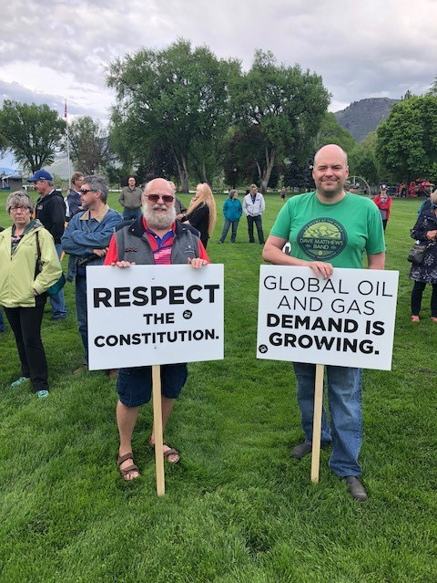 A strong message in favor of the Trans Mountain pipeline expansion in Kamloops