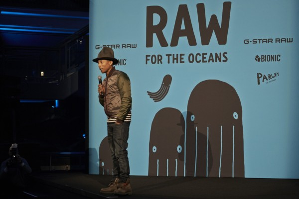 Pharrell (and his big hat) is making jeans out PLASTIC?!?!