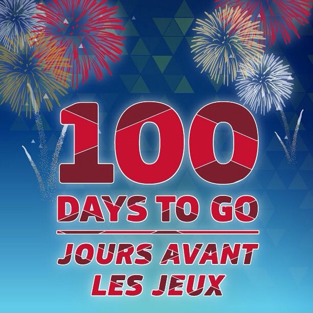 The 100 Days Out Celebration today
