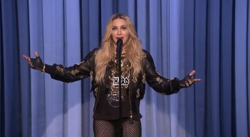 Madonna does stand-up.