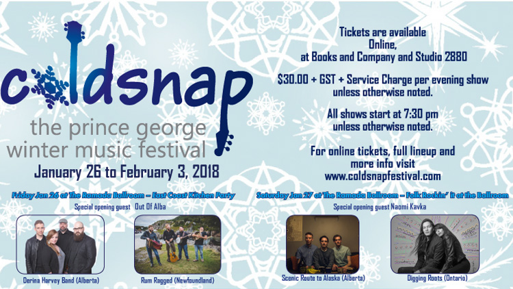 Coldsnap 2018 – The Prince George Winter Music Festival