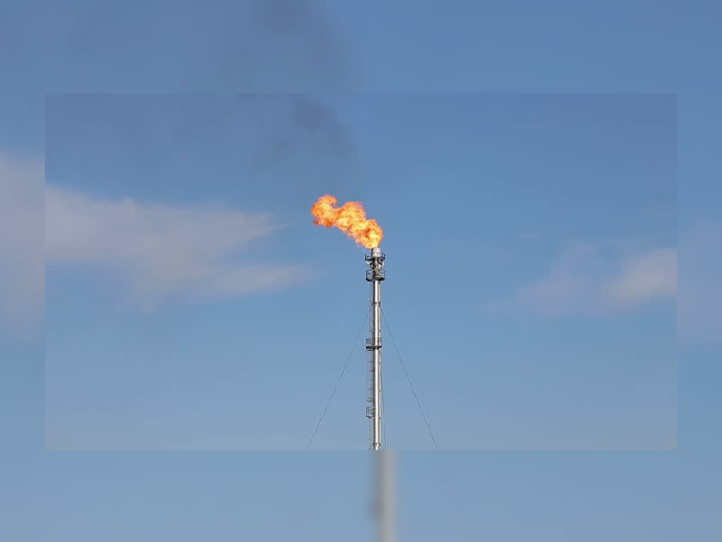 Natural Gas Flaring in Asquith Area