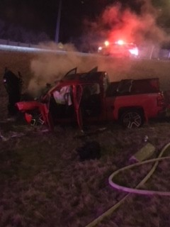Update: Traffic Restrictions Lifted After Fiery Crash on Circle Drive South
