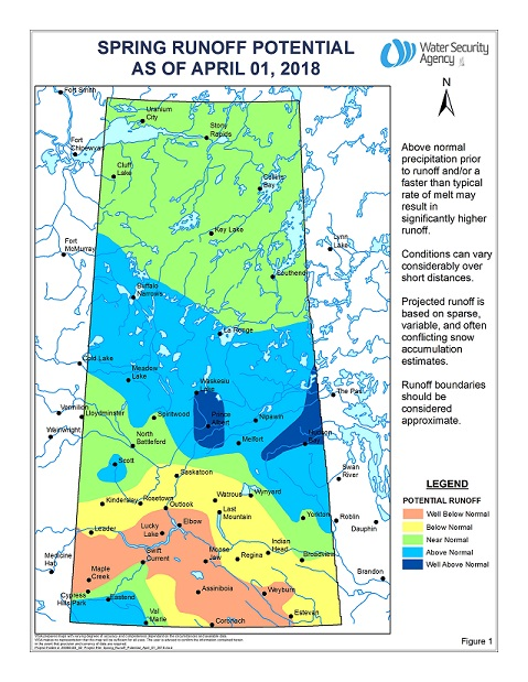 Spring Runoff Potential Higher in Northern Areas