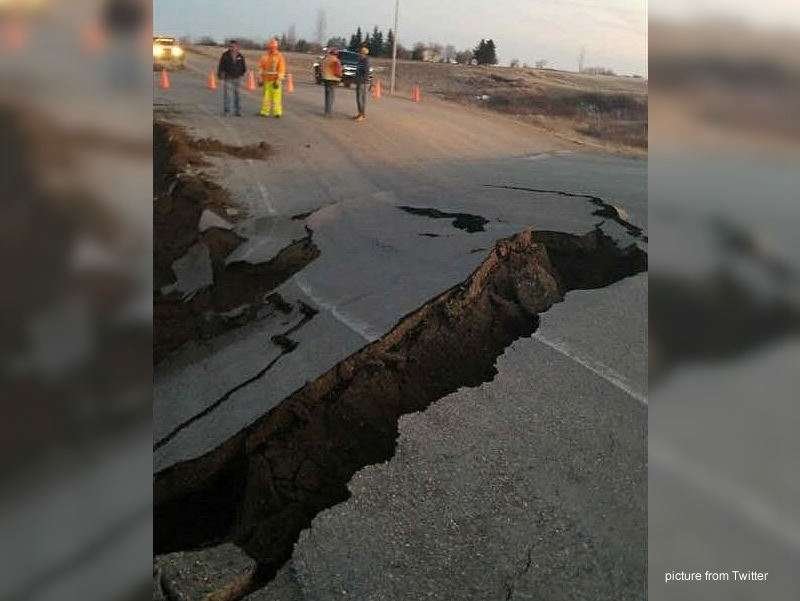 Highway Washed Out North Of Kamsack