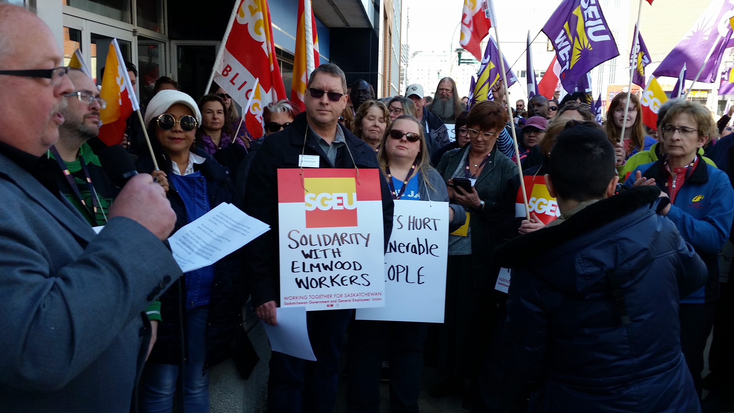 Government Workers Rally in Saskatoon