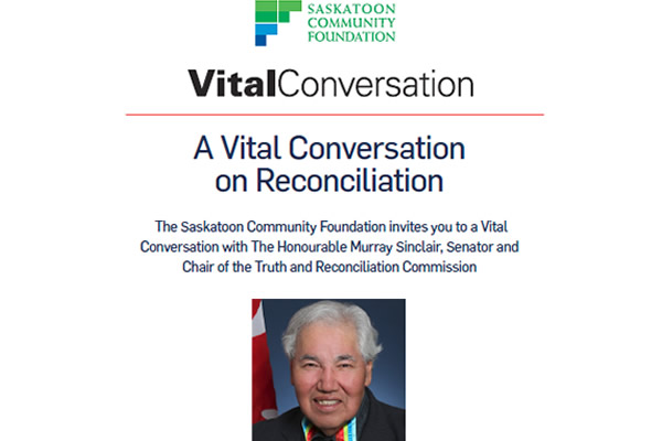 Chair of the Truth and Reconciliation Commission to Speak in Saskatoon