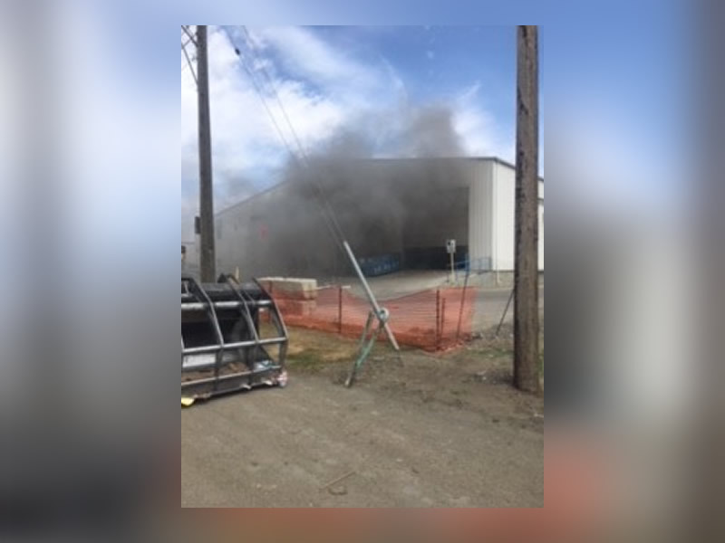Fire At Loraas Recycling Building Difficult To Douse