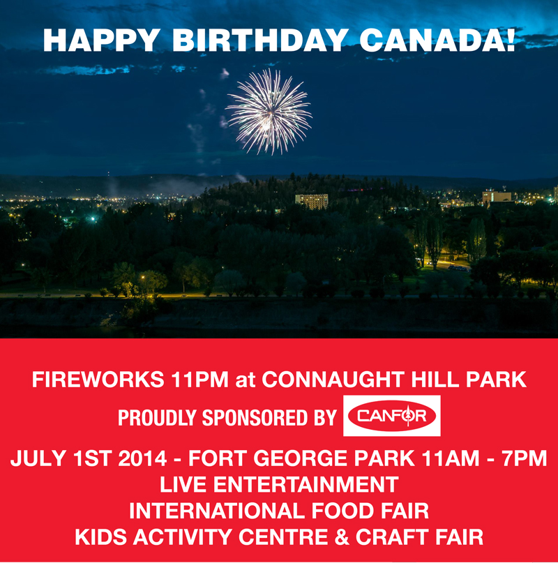 Canada Day at Ft. George Park - Fireworks at Connaught Hill