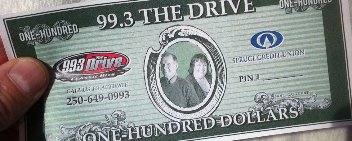 The Doug & Wendy Hidden Cash with Spruce Credit Union Contest