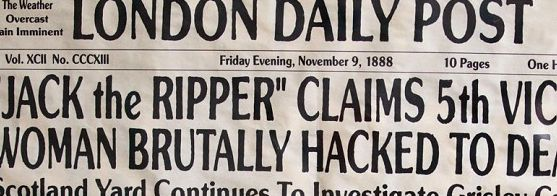 Jack the Ripper is.....