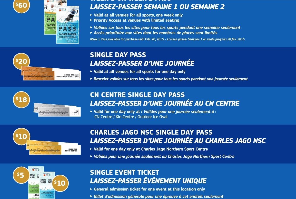 Canada Winter Games Ticket Prices