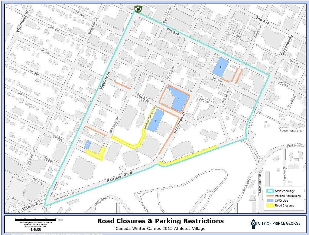 Parking restrictions during the Canada Winter Games